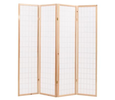 "vidaXL Folding 4-Panel Room Divider Japanese Style 63""x66.9"" Natural[4/6]"