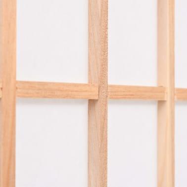 "vidaXL Folding 4-Panel Room Divider Japanese Style 63""x66.9"" Natural[5/6]"