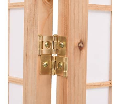 "vidaXL Folding 5-Panel Room Divider Japanese Style 78.7""x66.9"" Natural[6/6]"