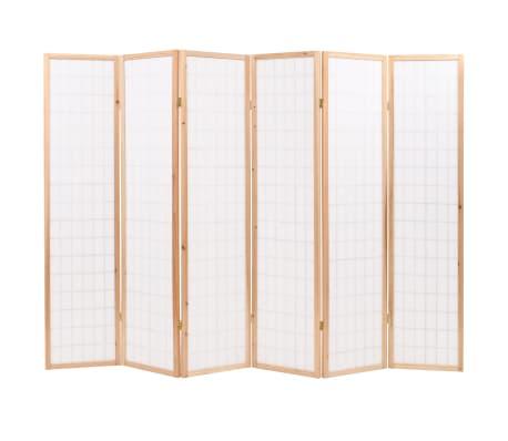 "vidaXL Folding 6-Panel Room Divider Japanese Style 94.5""x66.9"" Natural[4/6]"