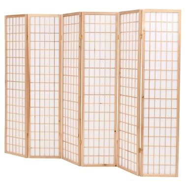 vidaXL Kamb. pertvara, sulankst., 6 plokšt., japon., 240x170cm, natūr.[3/6]