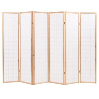 vidaXL Kamb. pertvara, sulankst., 6 plokšt., japon., 240x170cm, natūr.[4/6]