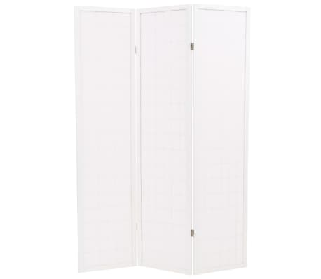 "vidaXL Folding 3-Panel Room Divider Japanese Style 47.2""x66.9"" White[4/6]"