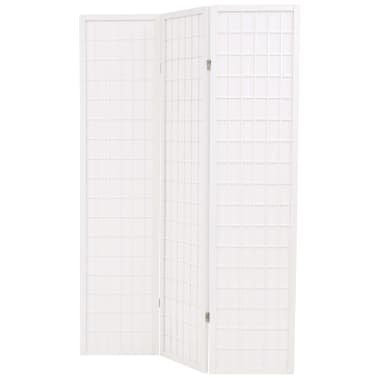 "vidaXL Folding 3-Panel Room Divider Japanese Style 47.2""x66.9"" White[3/6]"
