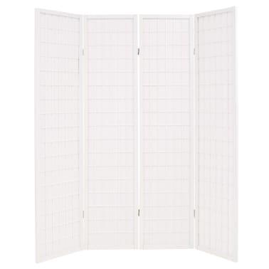 "vidaXL Folding 4-Panel Room Divider Japanese Style 63""x66.9"" White[2/6]"