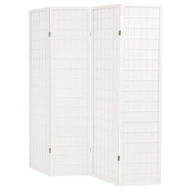 "vidaXL Folding 4-Panel Room Divider Japanese Style 63""x66.9"" White[3/6]"