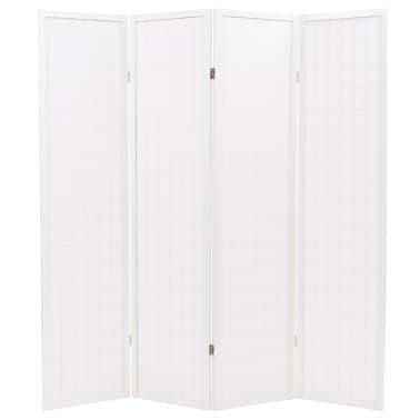"vidaXL Folding 4-Panel Room Divider Japanese Style 63""x66.9"" White[4/6]"