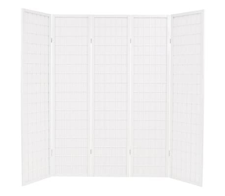 Japonés 5 Paneles Vidaxl Estilo Cm Blanco Biombo 200x170 Plegable qSVGzMpU