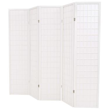 "vidaXL Folding 5-Panel Room Divider Japanese Style 78.7""x66.9"" White[3/6]"