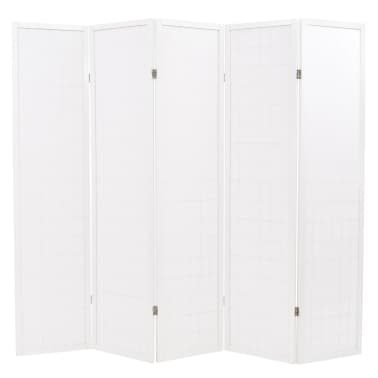 "vidaXL Folding 5-Panel Room Divider Japanese Style 78.7""x66.9"" White[4/6]"
