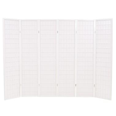 vidaXL Kamb. pertvara, sulankst., 6 plokšt., japon., 240x170cm, balta[2/6]