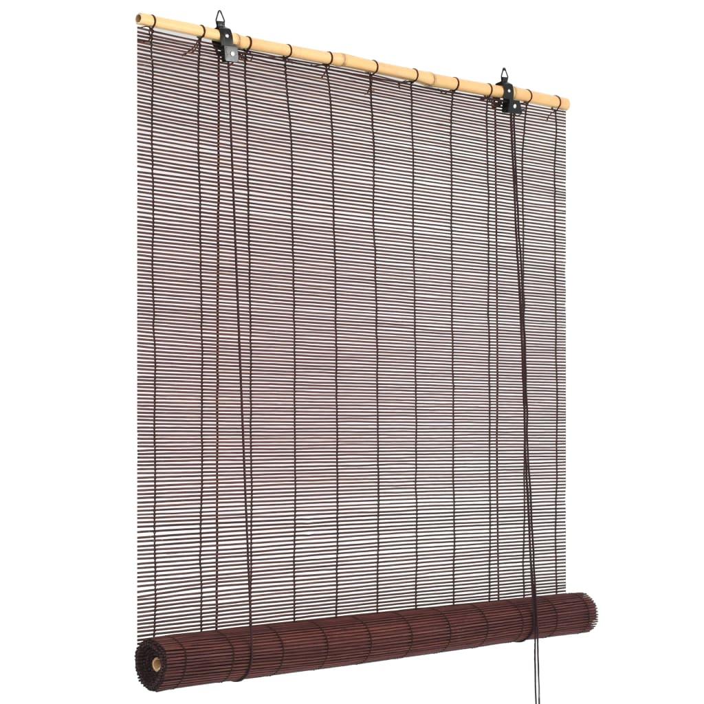 vidaXL Bambusová roleta 120 x 160 cm tmavě hnědá