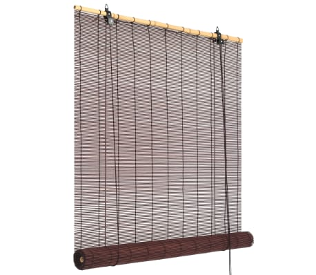 vidaXL Rullaverho bambu 150x220 cm tummanruskea[1/6]