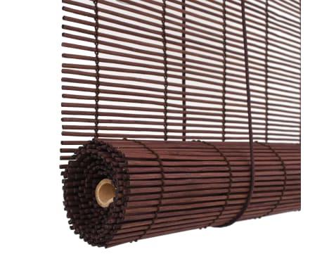 vidaXL Rullaverho bambu 150x220 cm tummanruskea[5/6]