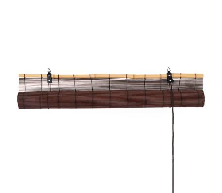vidaXL Rullaverho bambu 150x220 cm tummanruskea[6/6]