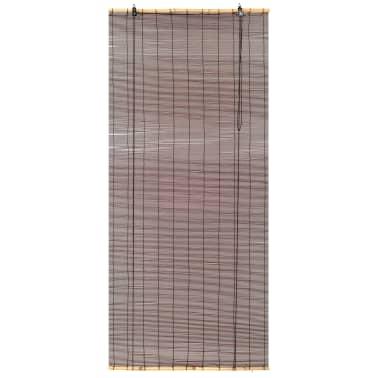 vidaXL Rullaverho bambu 150x220 cm tummanruskea[2/6]