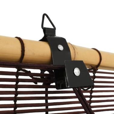 vidaXL Rullaverho bambu 150x220 cm tummanruskea[3/6]