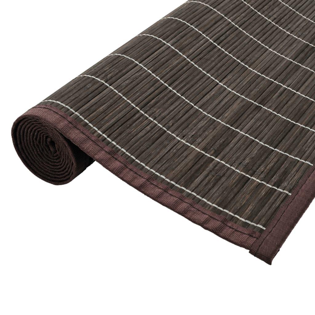 vidaXL Bambusový koberec 80 x 200 cm tmavě hnědý
