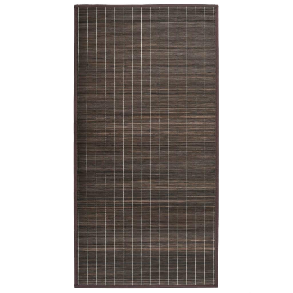 vidaXL Bambusový koberec 150 x 200 cm tmavě hnědý