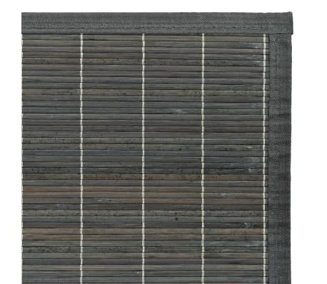 Vidaxl Teppich Bambus 160 X 230 Cm Grau Zum Schnappchenpreis Vidaxl At