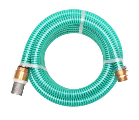 vidaXL Suction Hose with Brass Connectors 3 m 25 mm Green[1/7]