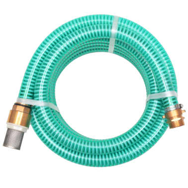 vidaXL Suction Hose with Brass Connectors 4 m 25 mm Green[1/7]