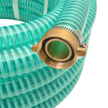 vidaXL Suction Hose with Brass Connectors 4 m 25 mm Green[2/7]