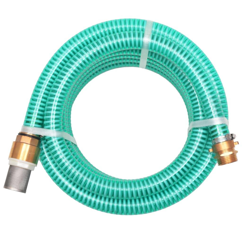 Sací hadice s mosaznými konektory 7 m 25 mm zelená