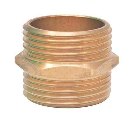 vidaXL Sesalna cev z medeninastimi nastavki 15 m 25 mm zelene barve[6/7]