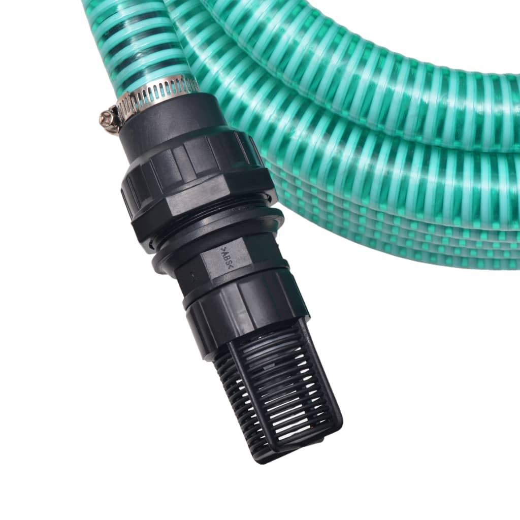 vidaXL Zuigslang met koppelingen 7 m 22 mm groen