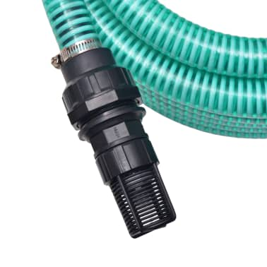 vidaXL Suction Hose with Connectors 7 m 22 mm Green[2/6]