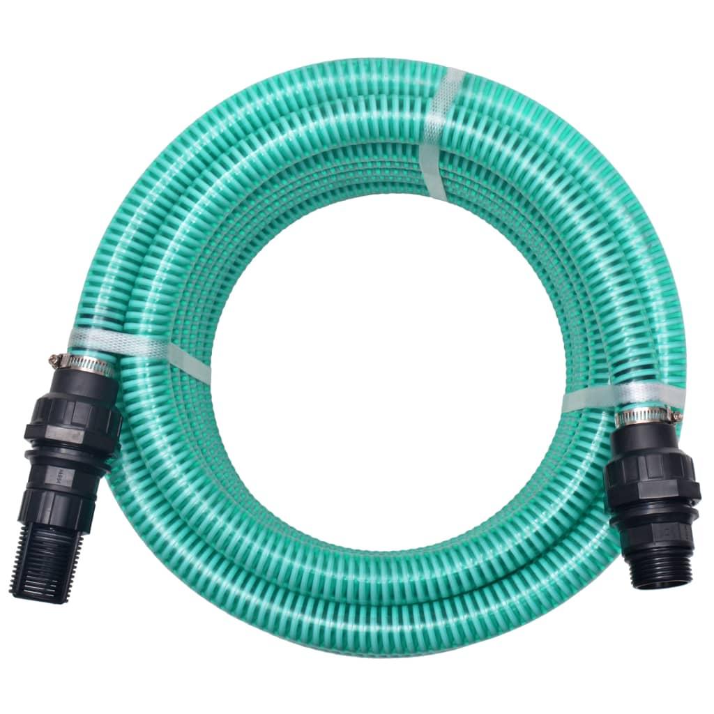Sací hadice s konektory 10 m 22 mm zelená