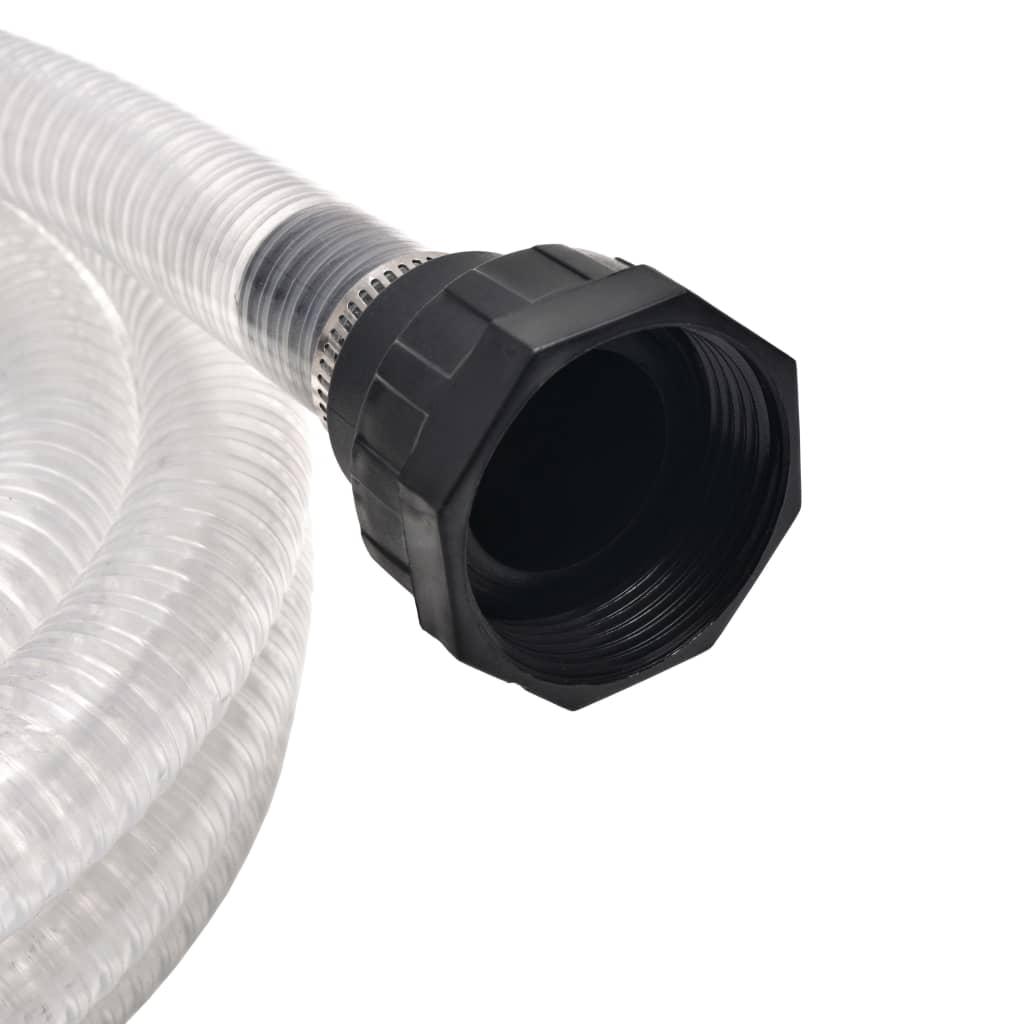 vidaXL Zuigslang met koppelingen 4 m 22 mm wit