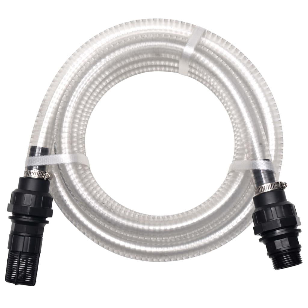 Sací hadice s konektory 7 m 22 mm bílá