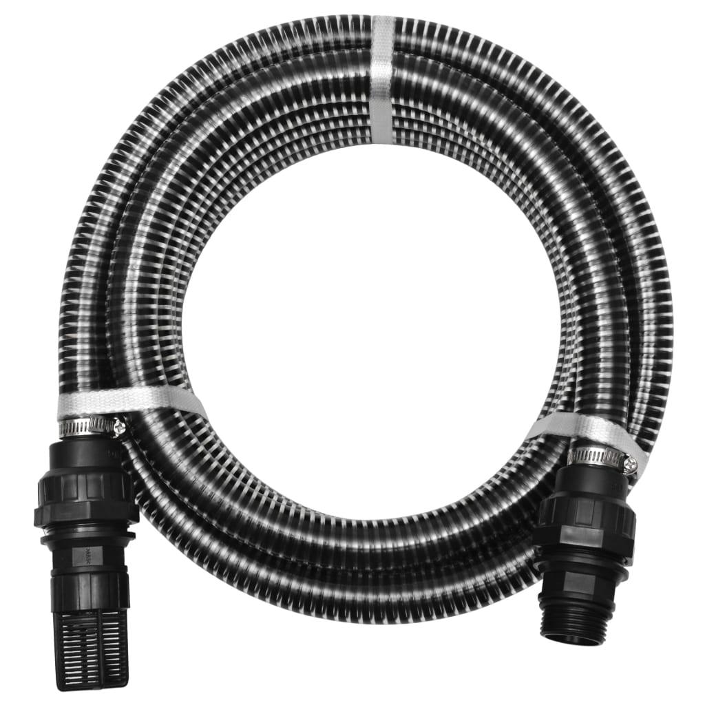Sací hadice s konektory 7 m 22 mm černá