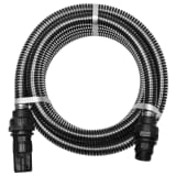 vidaXL Suction Hose with Connectors 10 m 22 mm Black