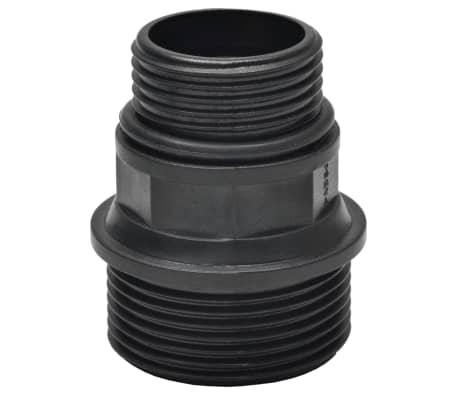 vidaXL Saugschlauch mit Anschlüssen 10 m 22 mm Schwarz[5/6]