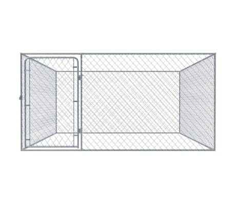 vidaXL Zunanji pasji boks pocinkano jeklo 2x2 m[2/5]