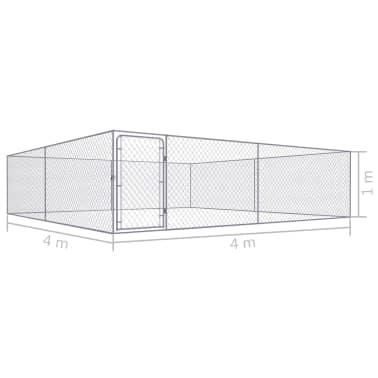 vidaxl chenil ext rieur pour chiens acier galvanis 4 x 4. Black Bedroom Furniture Sets. Home Design Ideas