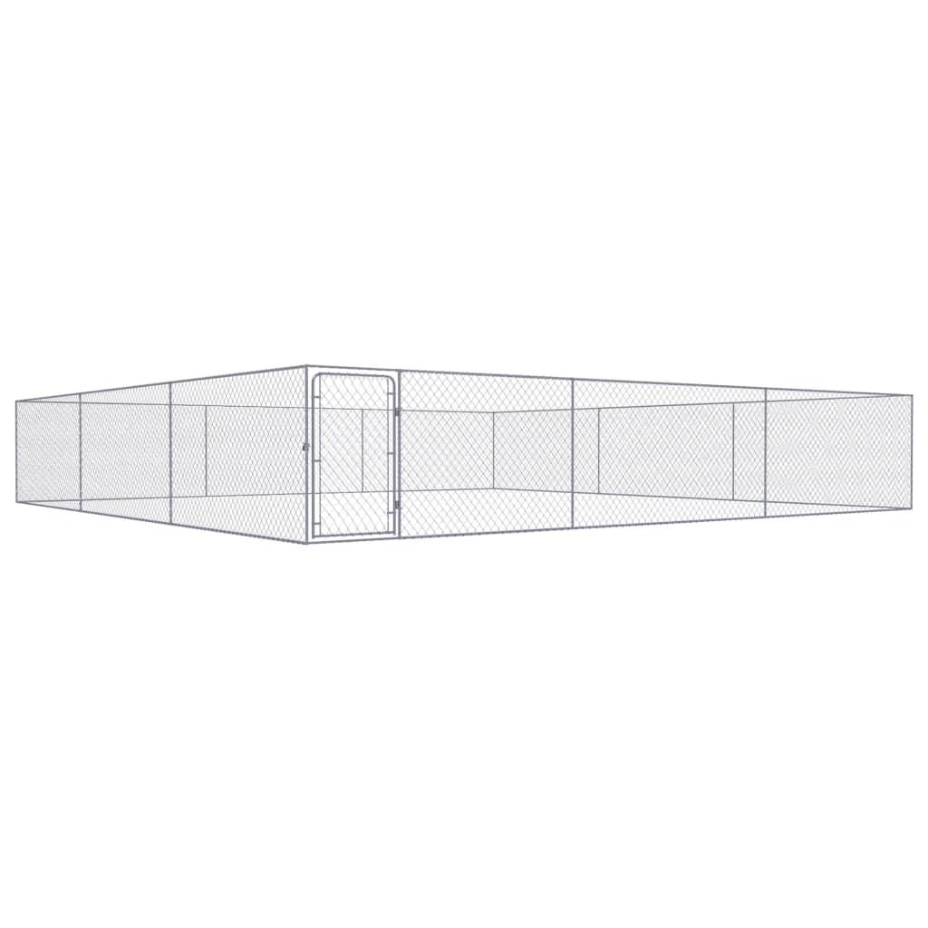 vidaXL Padoc pentru câini de exterior, 6 x 6 x 1 m, oțel galvanizat poza vidaxl.ro