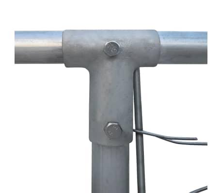 vidaXL Canil de exterior em aço galvanizado 6x6 m[4/5]