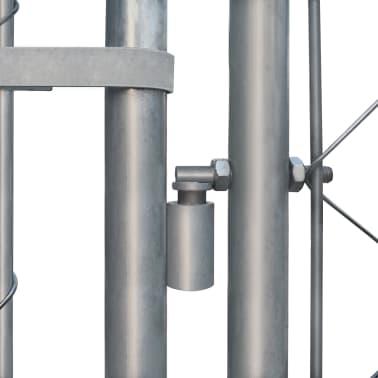 vidaXL Canil de exterior em aço galvanizado 6x6 m[3/5]