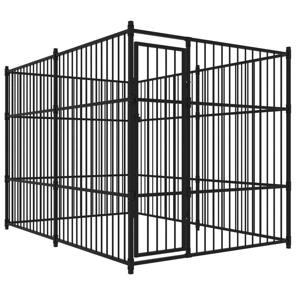 vidaXL Padoc pentru câini de exterior, 3 x 2 x 2 m poza 2021 vidaXL