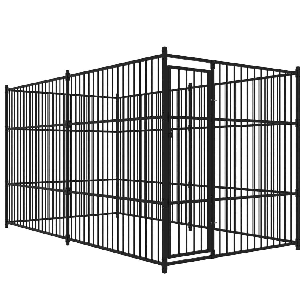 vidaXL Padoc pentru câini de exterior, 4 x 2 x 2 m vidaxl.ro