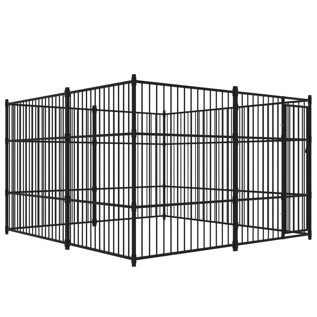 vidaXL Padoc pentru câini de exterior, 3 x 3 x 2 m poza vidaxl.ro