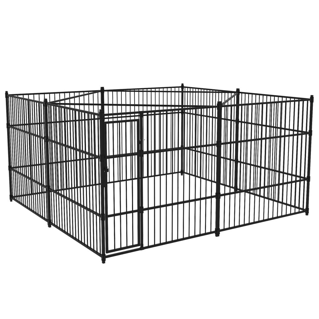 vidaXL Padoc pentru câini de exterior, 4 x 4 x 2 m poza vidaxl.ro