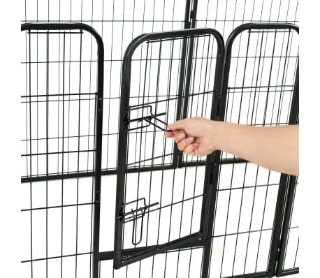 "vidaXL Dog Playpen 8 Panels Steel 31.5""x31.5"" Black[8/9]"