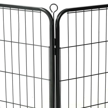 vidaXL Ograda za pse z 8 jeklenimi paneli 80x80 cm črne barve[7/9]