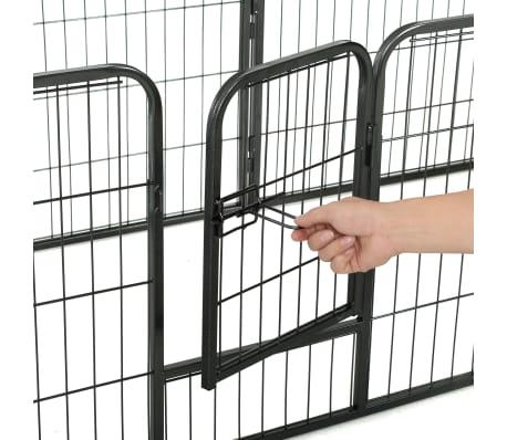 "vidaXL Dog Playpen 8 Panels Steel 31.5""x23.6"" Black[8/9]"