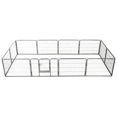 "vidaXL Dog Playpen 12 Panels Steel 31.5""x23.6"" Black[1/9]"